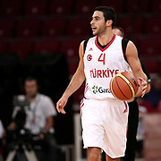 Turkey's Dogus Balbay during their Adidas Istanbul Cup 2012 Final basketball match Turkey between Finland at the Abdi ipekci Arena in Istanbul Turkey on Thursday 02 August 2012. Photo by TURKPIX