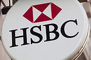 Sign for HSBC bank.