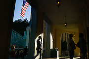 HOT SPRINGS, AR – JUNE 28, 2013: Families enter a hotel.