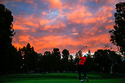 on the X hole during the third round of the Genesis Open golf tournament at Riviera Country Club Saturday, Feb. 18, 2017, in the Pacific Palisades area of Los Angeles. (AP Photo/Ryan Kang)