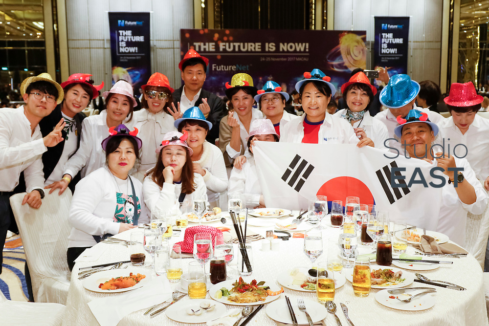 VIP dinner during FutureNet World Convention in Studio City Event Center, Macau, China, on 24 November 2017. Photo by Kevin Lee/Studio EAST