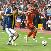 Fenerbahce's Mehmet Topuz (L) during their Turkish Super League soccer match Istanbul Basaksehir between Fenerbahce at the Basaksehir Fatih Terim Arena at Basaksehir in Istanbul Turkey on Monday, 25 May 2015. Photo by Aykut AKICI/TURKPIX