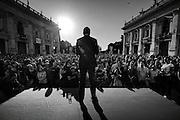 Ignazio Marino durante il suo primo discorso pubblico alla cittadinanza in piazza del Campidoglio. Roma, 13 giugno 2013. Christian Mantuano / OneShot <br /> <br /> Ignazio Marino during his first public speech to the citizens in Capitol Square. Rome, 13 June 2013. Christian Mantuano / OneShot
