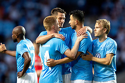 August 1, 2018 - MalmÃÂ, SVERIGE - 180801 Players of Malmö FF celebrates after the UEFA Champions League qualifying match between Malmö FF and Cluj on August 1, 2018 in Malmö..Photo: Mathilda Ahlberg / BILDBYRÃ…N / Cop 178  (Credit Image: © Mathilda Ahlberg/Bildbyran via ZUMA Press)