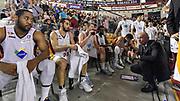 DESCRIZIONE : Campionato 2014/15 Virtus Acea Roma - Enel Brindisi<br /> GIOCATORE : Luca Dalmonte<br /> CATEGORIA : Allenatore Coach Time Out<br /> SQUADRA : Virtus Acea Roma<br /> EVENTO : LegaBasket Serie A Beko 2014/2015<br /> GARA : Virtus Acea Roma - Enel Brindisi<br /> DATA : 19/04/2015<br /> SPORT : Pallacanestro <br /> AUTORE : Agenzia Ciamillo-Castoria/GiulioCiamillo