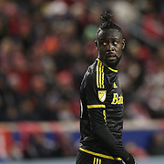 Kei Kamara, Columbus Crew SC, in action during the New York Red Bulls Vs Columbus Crew SC, Major League Soccer Eastern Conference Championship, second leg, at Red Bull Arena, Harrison, New Jersey. USA. 29th November 2015. Photo Tim Clayton