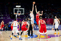 Pau Gasol of Spain vs Vladimir Ivlev of Russia during basketball match between National Teams  Spain and Russia at Day 18 in 3rd place match of the FIBA EuroBasket 2017 at Sinan Erdem Dome in Istanbul, Turkey on September 17, 2017. Photo by Vid Ponikvar / Sportida