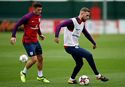 England's Jordan Henderson takes on Aaron Cresswell - Mandatory by-line: Matt McNulty/JMP - 29/08/2017 - FOOTBALL - St George's Park National Football Centre - Burton-upon-Trent, England - England Training and Press Conference
