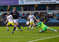 Football - 2018 / 2019 FA Cup - Third Round: Millwall vs. Hull City<br /> <br /> Aiden O'Brien (Millwall FC) with flick over George Long (Hull City) at The Den.<br /> <br /> COLORSPORT/DANIEL BEARHAM