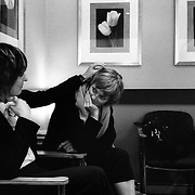 Jen (right) and Jane during a visit to the obstetrician in Sydney, Australia, August  2008. Photo by Tim Clayton..