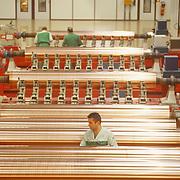 Men working in textile industry