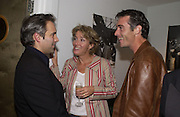 Sam Mendes, Emma Thompson and Greg Wise. Uncle Vanya, Donmar Warehouse and afterwards at 1 Aldwych. 30 September 2002. © Copyright Photograph by Dafydd Jones 66 Stockwell Park Rd. London SW9 0DA Tel 020 7733 0108 www.dafjones.com