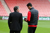 Football - 2016 / 2017 Premier League - AFC Bournemouth vs. Southampton<br /> <br /> Southampton Manager Claude Puel and Southampton's Jose Fonte walk away from the rest of the squad to have a long discussion when the team came out onto the pitch at Dean Court (The Vitality Stadium) Bournemouth<br /> <br /> COLORSPORT/SHAUN BOGGUST