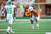 AUSTIN, TX - AUGUST 30:  Quandre Diggs #6 of the Texas Longhorns lines up against the North Texas Mean Green on August 30, 2014 at Darrell K Royal-Texas Memorial Stadium in Austin, Texas.  (Photo by Cooper Neill/Getty Images) *** Local Caption *** Quandre Diggs