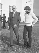 31/03/1978.03/31/1978.31st March 1978.John Treacy meets the President. Photograph of President Hillery, (left) and John Treacy, (centre), walking in the grounds of Aras an Uachtarain.