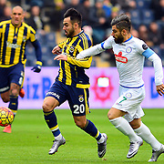 Fenerbahce's volkan Sen (L) during their Turkish super league soccer match Fenerbahce between Caykur Rizespor at the Sukru Saracaoglu stadium in Istanbul Turkey on Sunday 24 January 2016. Photo by Kurtulus YILMAZ/TURKPIX