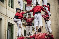 Barcelona: Day of Human Towers at Gracia 20 November 2016