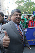 29 April 2010 New York, NY- Richard Trumka, President AFL-CIO at The March on Wall Street held at City Hall Park with proceeding March on Wall Street Protest on April 29, 2010 in New York City.