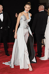 © Licensed to London News Pictures. 05/12/2016. GIGI HADID arrives for The Fashion Awards 2016 celebrating the best of British and international fashion. London, UK. Photo credit: Ray Tang/LNP