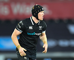 Ospreys' Sam Cross<br /> <br /> Photographer Mike Jones/Replay Images<br /> <br /> Guinness PRO14 Round Round 16 - Ospreys v Cheetahs - Saturday 24th February 2018 - Liberty Stadium - Swansea<br /> <br /> World Copyright © Replay Images . All rights reserved. info@replayimages.co.uk - http://replayimages.co.uk