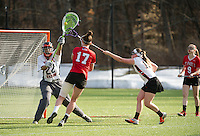 St Paul's School girls varsity Lacrosse with Kimball Union.  ©2015 Karen Bobotas Photographer