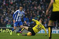 Football - 2016 / 2017 Sky Bet Championship - Brighton & Hove Albion vs. Burton Albion<br /> <br /> Brighton's Beram Kayal avoids the challenge of Jackson Irvine of Burton Albion at the Amex Stadium Brighton<br /> <br /> COLORSPORT/SHAUN BOGGUST