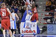DESCRIZIONE : Eurocup 2015-2016 Last 32 Group N Dinamo Banco di Sardegna Sassari - Cai Zaragoza<br /> GIOCATORE : Isaac Fotu David Logan<br /> CATEGORIA : Rimbalzo Controcampo Fallo<br /> SQUADRA : Cai Zaragoza<br /> EVENTO : Eurocup 2015-2016<br /> GARA : Dinamo Banco di Sardegna Sassari - Cai Zaragoza<br /> DATA : 27/01/2016<br /> SPORT : Pallacanestro <br /> AUTORE : Agenzia Ciamillo-Castoria/L.Canu