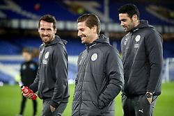 Leicester City's Adrien Silva (centre) before the Premier League match at Goodison Park, Liverpool.