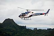 Belo Horizonte_MG, Brasil...Helicoptero da Policia Militar sobrevoando a Serra do Curral em Belo Horizonte, Minas Gerais...Military Police helicopter flying over the Serra do Curral in Belo Horizonte, Minas Gerais...Foto: LEO DRUMOND / NITRO
