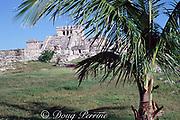 Temple of the Wind, Mayan ruins at Tulum, Yucatan Peninsula, Mexico ( Caribbean Sea )