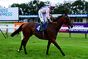 Glory Dab ridden by Kieran Shoemark and trained by Charles Hills ridden in the Sky Sports Racing Sky 415 Novice Stakes - Mandatory by-line: Ryan Hiscott/JMP - 24/08/20 - HORSE RACING - Bath Racecourse - Bath, England - Bath Races