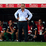 Galatasaray's head coach Fatih Terim during their Turkish Superleague soccer derby match Besiktas between Galatasaray at the Inonu Stadium at Dolmabahce in Istanbul Turkey on Thursday, 26 August 2012. Photo by TURKPIX