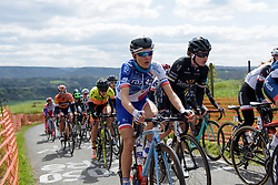 Shara Gillow and Audrey Cordon Ragot at the Liege-Bastogne-Liege Femmes - a 135.5 km road race between Bastogne and Ans on April 23 2017 in Liège, Belgium.