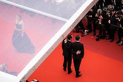 May 20, 2019 - Cannes, France - 72eme Festival International du Film de Cannes. Montée des marches du film ''La Belle Epoque'' depuis la terrasse du palais. 72th International Cannes Film Festival. Red Carpet for ''La Belle Epoque'' movie from the rooftop....239578 2019-05-20  Cannes France.. Cotillard, Marion; Dujardin, Jean; Lellouche, Gilles (Credit Image: © Terence Baelen/Starface via ZUMA Press)