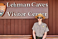 Ranger Shannon at Lehman Caves. Great Basin National Park, Nevada. Image taken with a Nikon D3s camera and 24-70 mm lens.