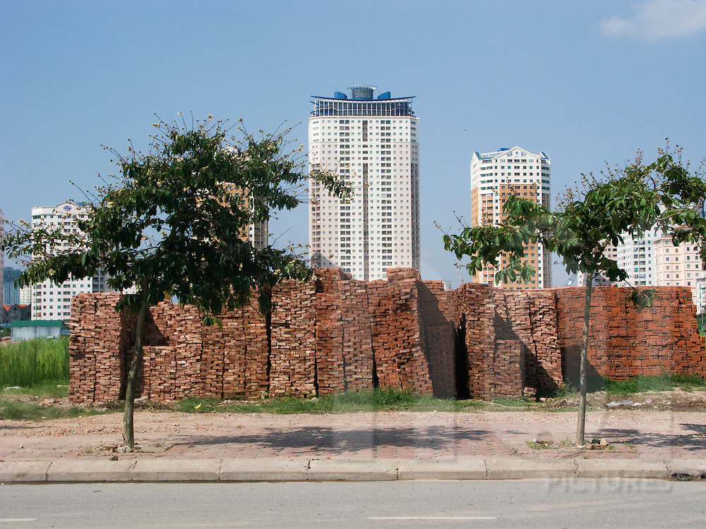 Trung Hoa towers in the suburb of Hanoi