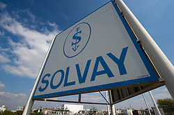 The Solvay SA chemical plant stands in Antwerp, Belgium, on Thursday, April 22, 2010.  Solvay SA is the world's largest supplier of Soda Ash or Sodium Carbonate and is also a major producer of caustic soda, hydrogen peroxide, chlorine and fluorinated products. (Photo © Jock Fistick)