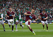 The William Hill Scottish FA Cup Final 2012 Hibernian Football Club v Heart Of Midlothian Football Club..19-05-12...Hearts Danny Grainger scores from the spot to make it 3-1        during the William Hill Scottish FA Cup Final 2012 between (SPL) Scottish Premier League clubs Hibernian FC and Heart Of Midlothian FC. It's the first all Edinburgh Final since 1986 which Hearts won 3-1. Hearts bid to win the trophy since their last victory in 2006, and Hibs aim to win the Scottish Cup for the first time since 1902....At The Scottish National Stadium, Hampden Park, Glasgow...Picture Mark Davison/ ProLens PhotoAgency/ PLPA.Saturday 19th May 2012.