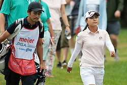 June 16, 2018 - Belmont, Michigan, United States - Sakura Yokomine of Japan heads to the third hole during the third round of the Meijer LPGA Classic golf tournament at Blythefield Country Club in Belmont, MI, USA  Saturday, June 16, 2018. (Credit Image: © Jorge Lemus/NurPhoto via ZUMA Press)