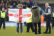 Millwall fans invade the pitch after full time. The Emirates FA Cup 5th round match, Millwall v Leicester City at The Den in London on Saturday 18th February 2017.<br /> pic by John Patrick Fletcher, Andrew Orchard sports photography.