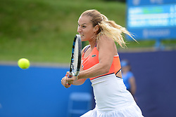 June 22, 2017 - Birmingham, England - DOMINIKA CIBULKOVA in her doubles match in the Aegon Classic Birmingham tennis tournament. (Credit Image: © Christopher Levy via ZUMA Wire)