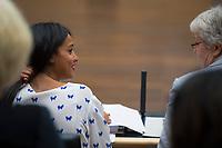 DEU, Deutschland, Germany, Berlin, 21.09.2018: Die Berliner Staatssekretärin Sawsan Chebli während einer Sitzung im Bundesrat.