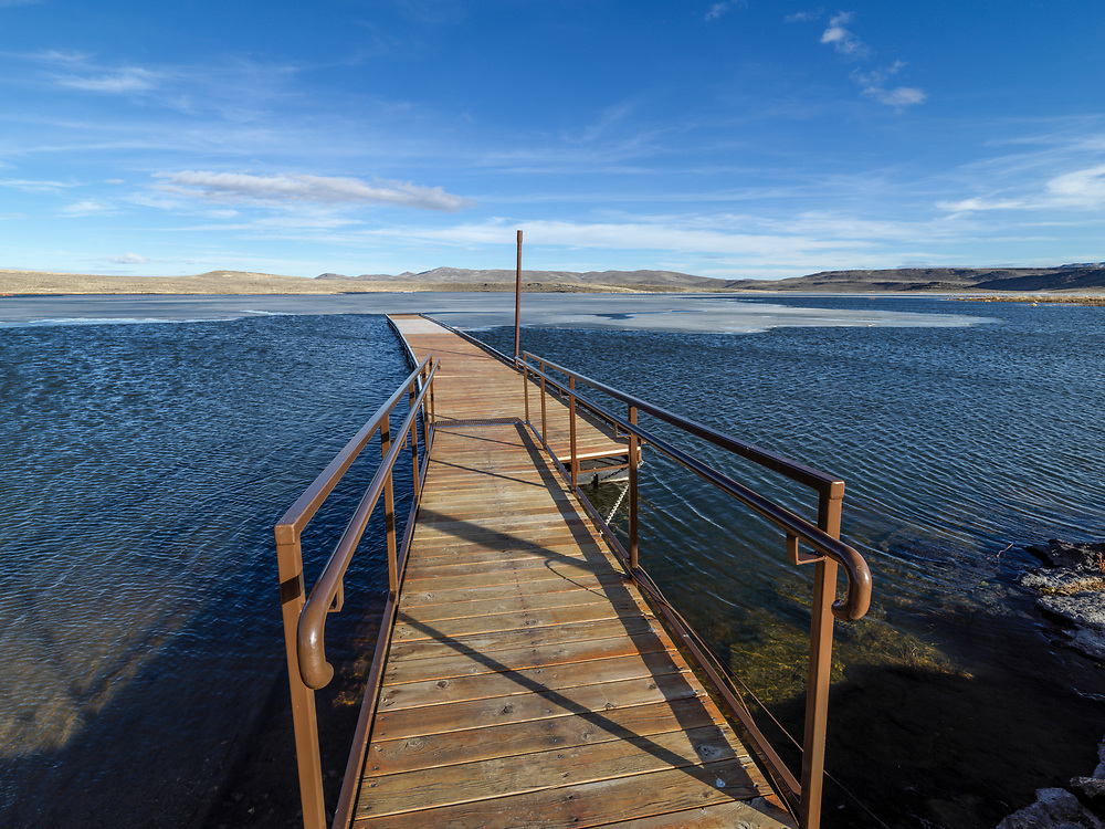 Limited Editions of 8<br /> Spring thaw comes to Mormon Reservoir on the Camas Prairie