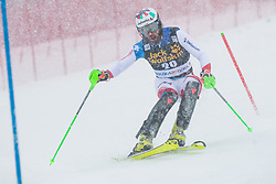 Aerni Luca (SUI) during the Audi FIS Alpine Ski World Cup Men's  Slalom at 60th Vitranc Cup 2021 on March 14, 2021 in Podkoren, Kranjska Gora, Slovenia Photo by Grega Valancic / Sportida