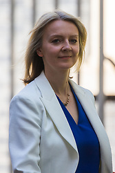 Chief Secretary to the Treasury Elizabeth Truss leaves the weekly UK cabinet meeting at 10 Downing Street in London, May 01 2018.