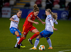 NEWPORT, WALES - Thursday, October 22, 2020: Wales' Rachel Rowe during the UEFA Women's Euro 2022 England Qualifying Round Group C match between Wales Women and Faroe Islands Women at Rodney Parade. Wales won 4-0. (Pic by David Rawcliffe/Propaganda)