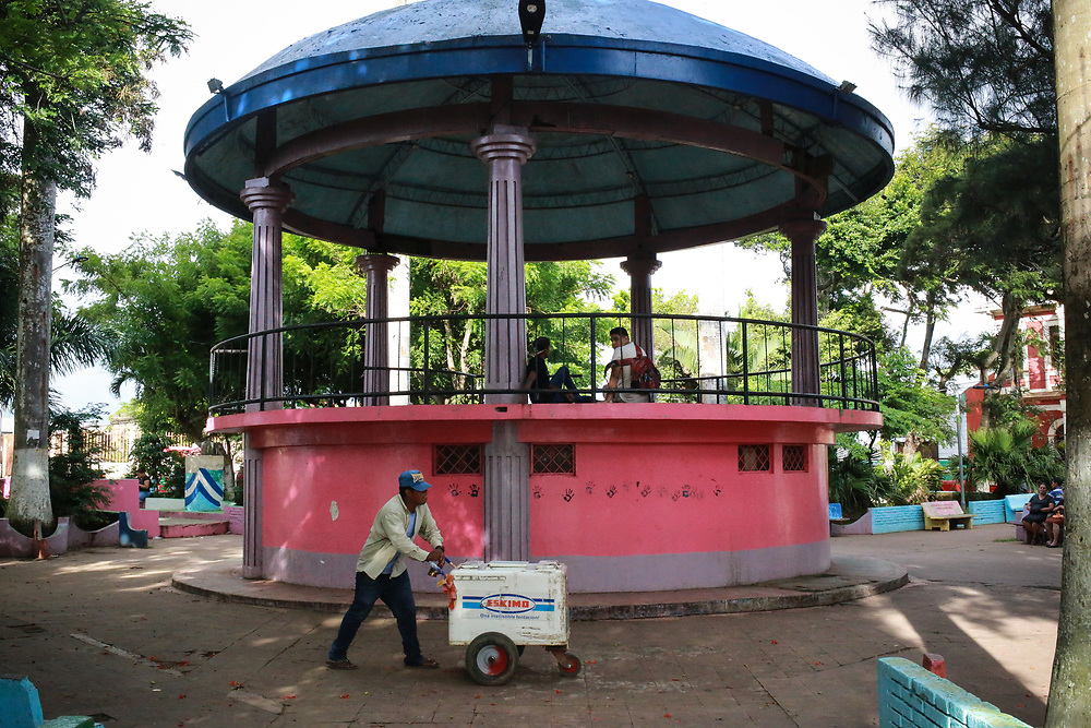 the bandstand in the main square of Diriamba