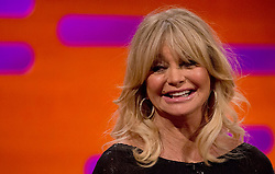 Goldie Hawn during the filming of the Graham Norton Show at The London Studios, to be aired on BBC One on Friday.