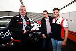 Dino Zamparelli entertains his sponsors from RSG | Bristol Sport Racing | #88 Porsche 911 GT3 Cup Car | Porsche Carrera Cup GB - Mandatory byline: Rogan Thomson/JMP - 07966 386802 - 27/09/2015 - MOTORSPORT - Silverstone Circuit - Towcester, England - BTCC Meeting Day 2.