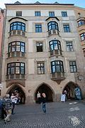 Austria, Innsbruck Trautson House in Herzog-Friedrich Strasse in the historic town